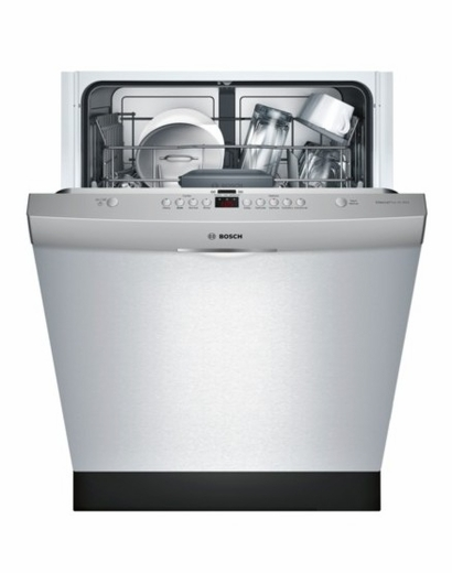"SHS63VL5UC Bosch 300 Series 24"" Scoop Handle Dishwasher with AquaStop Leak Protection - Stainless Steel"