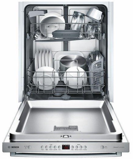 "SHX5AV55UC Bosch Ascenta 24"" Bar Handle Dishwasher with RackMatic Upper Rack - Stainless Steel"