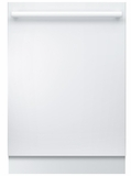 """SHXM78W52N Bosch 800 Series 24"""" Bar Handle Dishwasher with Top Controls and AquaStop - White"""
