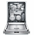 """SHXM98W75N Bosch 800 Series 24"""" Bar Handle Dishwasher with Top Controls and AquaStop - Stainless Steel"""