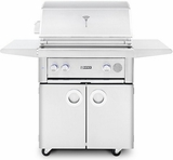 "SMART30FLP Lynx 30"" Liquid Propane Freestanding Smart Grill with Two Trident Prosear2 Burners and Blue LED Lighting - Stainless Steel"