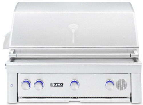 "SMART36NG Lynx 36"" Built-In Smart Natural Gas Grill with Three Trident Burners and Blue LED Lights - Stainless Steel"
