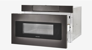 "SMD2470AH Sharp 24"" Microwave Drawer Oven with Hidden Control Panel and Sensor Cook - Black Stainless Steel"