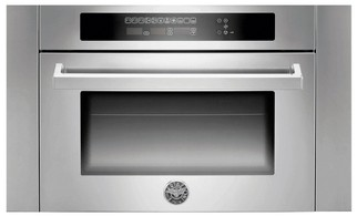 "SO24PROXWMC Bertazzoni 24"" Professional Series Single Electric Wall Oven with Combi-Microwave - Stainless Steel"