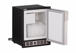 "SP18FCS-03A U-Line Marine Series 15"" Marine Crescent Ice Maker - Field Reversible - 115V - Stainless Steel"