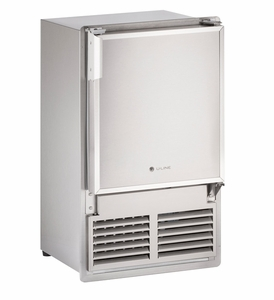 """SS1095FC-03A U-Line Marine Series 14"""" Marine Crescent Ice Maker - With Flange, Flush To Cabinet - Field Reversible - 115 Volt - Stainless Steel"""