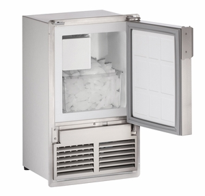 """SS1095FC-20A U-Line Marine Series 14"""" Marine Crescent Ice Maker - With Flange, Flush To Cabinet - Field Reversible - 220V - Stainless Steel"""