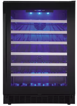 "SSWC056D1B Danby 24"" Wine Cooler with Zer-Clearance Hinge System and Alert Alarms - Black</"