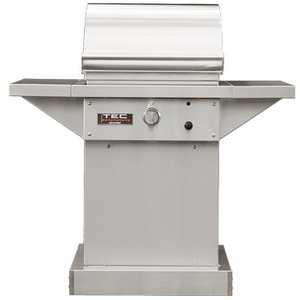 "STPFR1NTPED TEC Infrared 26"" Sterling Patio FR Series Natural Gas Freestanding Grill on Stainless Steel Pedestal with Rapid Preheat and Self-Cleaning Cooking Surface - Stainless Steel"