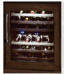 "T24UW800RP 24"" Thermador Right Swing Undercounter Wine Reserve with LED Lighting - Custom Panel"