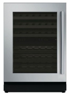 "T24UW810LS 24"" Thermador Masterpiece Series Left Swing Undercounter Wine Reserve with LED Lighting - Stainless Steel"