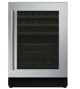 "T24UW810RS 24"" Thermador Masterpiece Series Right Swing Undercounter Wine Reserve with LED Lighting - Stainless Steel"