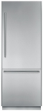 """T30BB810SS Thermador Freedom 30"""" Pre-Assembled Built-In Bottom-Freezer Refrigerator with Masterpiece Handles - Stainless Steel"""