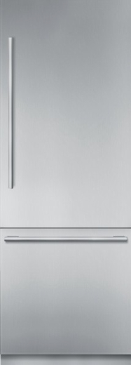 "T30BB910SS Thermador 30"" Freedom Collection Master Piece Series Handle Built-In Bottom Mount Refrigerator with ThermaFresh System and SoftClose - Stainless Steel"
