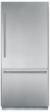 """T36BB810SS Thermador Freedom 36"""" Pre-Assembled Built-In Bottom-Freezer Refrigerator with Masterpiece Handles - Stainless Steel"""
