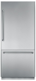 """T36BB820SS Thermador Freedom 36"""" Pre-Assembled Built-In Bottom-Freezer Refrigerator with Professional Handles - Stainless Steel"""