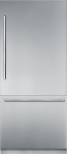 "T36BB910SS Thermador 36"" Freedom Collection Masterpiece Series Handle Built-In Bottom Mount Refrigerator with ThermaFresh System and SoftClose - Stainless Steel"