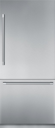 "T36BB920SS Thermador 36"" Freedom Collection Masterpiece Series Handle Built-In Bottom Mount Refrigerator with ThermaFresh System and SoftClose - Stainless Steel"