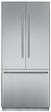 """T36BT810NS Thermador Freedom 36"""" Pre-Assembled Built-In French Door Bottom-Freezer Refrigerator with Masterpiece Handles - Stainless Steel"""