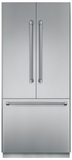 """T36BT820NS Thermador Freedom 36"""" Pre-Assembled Built-In French Door Bottom-Freezer Refrigerator with Professional Handles - Stainless Steel"""