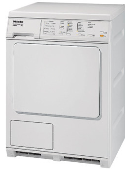 """T8033C Miele 24"""" Electric Dryer with 8 Dry Programs and Anti-Creasing After Program End - White"""