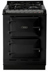 "TCDCLPMBLK AGA 24"" Dual Fuel Integrated Range with Propane Burners & Electric Ovens - LP Gas - Black"