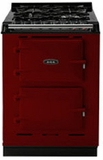 "TCDCLPMCLT Aga 24"" Dual Fuel Integrated Range with Propane Burners & Electric Ovens - LP Gas - Claret"