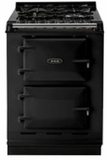 "TCDCNGMBLK AGA 24"" Dual Fuel Integrated Range with Gas Burners & Electric Ovens - Natural Gas - Black"