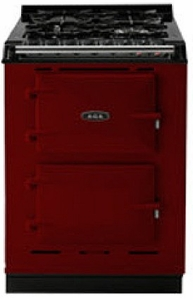 "TCDCNGMCLT AGA 24"" Dual Fuel Integrated Range with Gas Burners & Electric Ovens - Natural Gas - Claret"