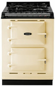 "TCDCNGMCRM Aga 24"" Dual Fuel Integrated Range with Gas Burners & Electric Ovens - Natural Gas - Cream"
