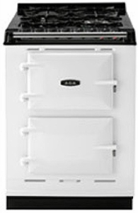 "TCDCNGMWHT AGA 24"" Dual Fuel Integrated Range with Gas Burners & Electric Ovens - Natural Gas - White"