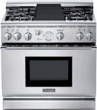 "Thermador All Gas Ranges Liquid Propane - 36"" WIDE"