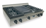 TTN037-7 Five Star 36'' Natural Gas Pro Cooktop with 4 Sealed Burners & Reversible Grill/Griddle - Stainless Steel