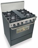 "TTN275-7W Five Star 30"" Pro Style Dual-Fuel Self-Cleaning Convection Range with Open Burners - Natural Gas - Black"