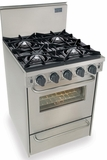"""TTN480-7BW Five Star 24"""" Pro Style Natural Gas Convection Range - Open Burner - Stainless Steel"""