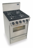 """TTN491-7BW Five Star 24"""" Pro Style Natural Gas Convection Range - Sealed Burner - Stainless Steel"""