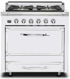 TVDR3602GAW Viking Tuscany 36 Inch Pro-Style Dual Fuel Range with 2 20,000 BTU Burners 3.4 cu. ft. Convection Oven and Electric Griddle - Natural Gas - Antique White