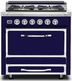 TVDR3602GDB Viking Tuscany 36 Inch Pro-Style Dual Fuel Range with 2 20,000 BTU Burners 3.4 cu. ft. Convection Oven and Electric Griddle - Natural Gas - Dark Blue
