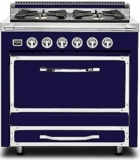 TVDR3604BDB Viking Tuscany 36 Inch Pro-Style Dual Fuel Range with 4 20,000 BTU Burners, 3.4 cu. ft. Convection Oven and Proofing Mode - Natural Gas - Dark Blue