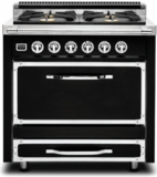 TVDR3604BGB Viking Tuscany 36 Inch Pro-Style Dual Fuel Range with 4 20,000 BTU Burners, 3.4 cu. ft. Convection Oven and Proofing Mode - Natural Gas - Graphite Black