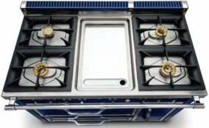 TVDR4804GDB Viking Tuscany 48 Inch Pro-Style Dual Fuel Range with 4 20,000 BTU Gas Burners, Griddle and 3.8 cu. ft. Convection Oven - Natural Gas - Dark Blue