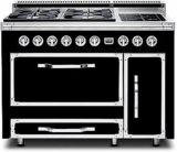 TVDR4804GGB Viking Tuscany 48 Inch Pro-Style Dual Fuel Range with 4 20,000 BTU Gas Burners, Griddle and 3.8 cu. ft. Convection Oven - Natural Gas - Graphite Black
