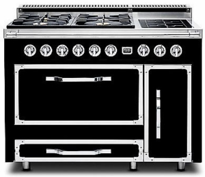 TVDR4804IGB Viking Tuscany 48 Inch  Pro-Style Dual Fuel Range with 4 20,000 BTU Gas Burners, 2 Induction Elements and 3.8 cu. ft. Convection Oven - Natural Gas - Graphite Black