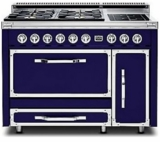 TVDR4806BDB Viking Tuscany 48 Inch Pro-Style Dual Fuel Range with Sealed Burners, 3.8 cu. ft. Convection Oven and 2.4 cu. ft. Side Swing Secondary Oven - Natural Gas - Dark Blue