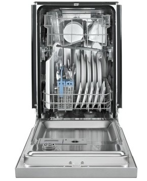 "UDT518SAFP 18"" Whirlpool Top Control Tall Tub Panel-Ready Dishwasher with 5 Cycles and Stainless Steel Interior - Custom Panel"