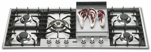 "UHP125FC Ilve 46"" Natural Gas Cooktop - Stainless Steel"