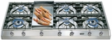 "UHP1265FD Ilve 48"" Pro Style Natural Gas Cooktop - Stainless Steel"