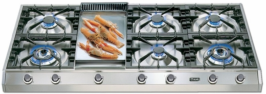 """UHP1265FD Ilve 48"""" Pro Style Natural Gas Cooktop - Stainless Steel"""