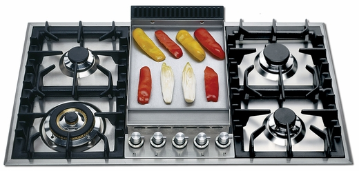 "UHP95FC Ilve 36"" Natural Gas Cooktop - Stainless Steel"