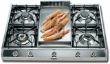 "UHP965FD Ilve 36"" Pro Style Natural Gas Cooktop - Stainless Steel"